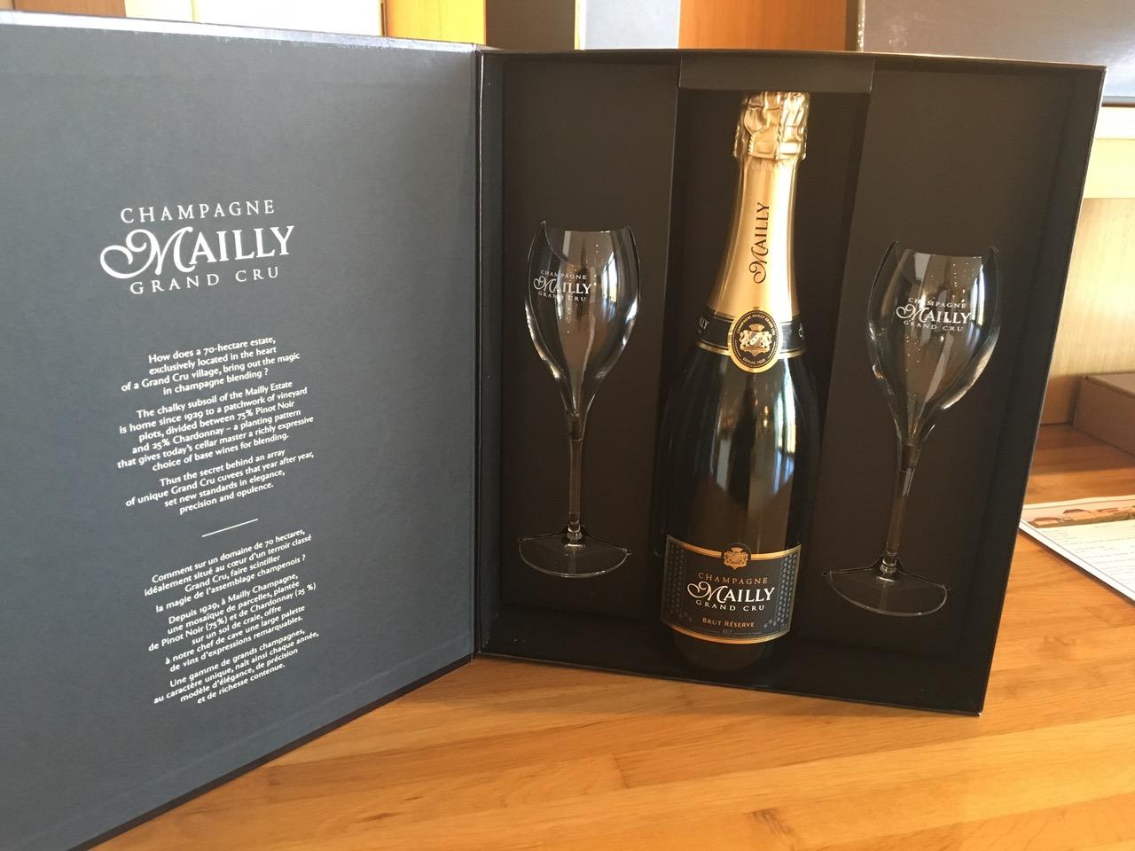 coffret champagne packaging sur mesure flutes et bouteille