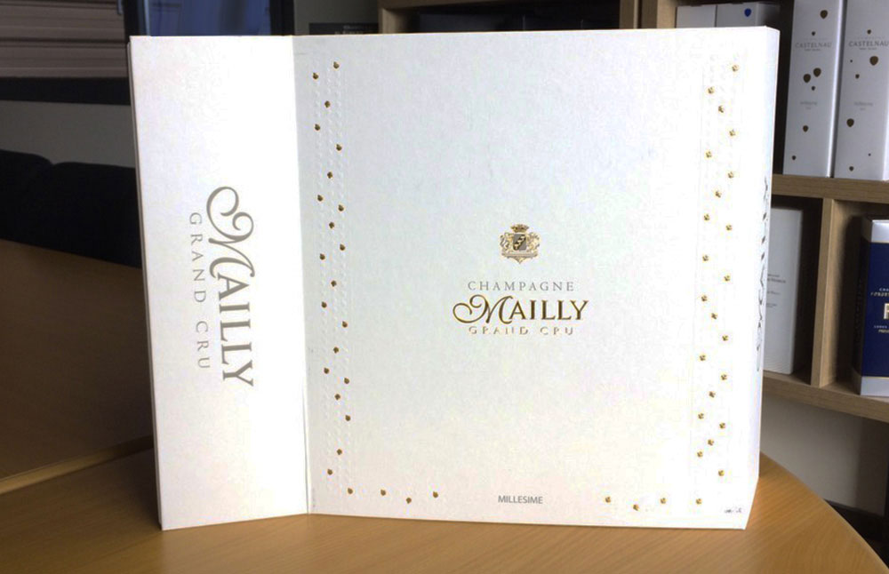 Packaging sur mesure coffret Champagne Mailly